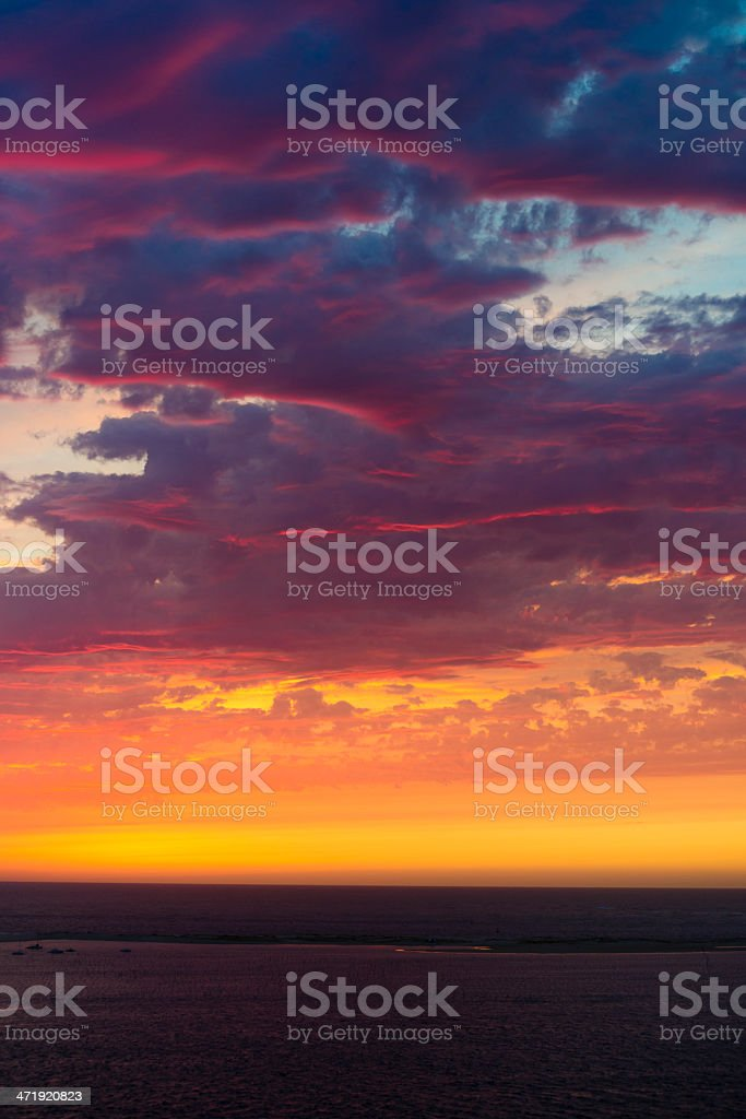 sunset like fire royalty-free stock photo