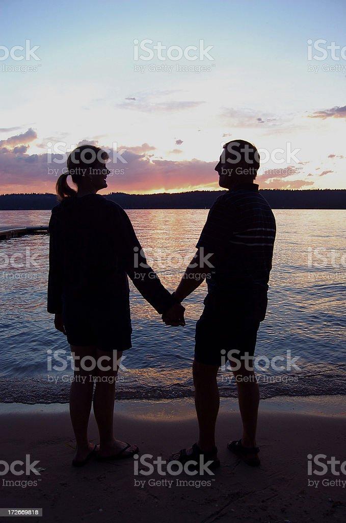 Sunset Love royalty-free stock photo