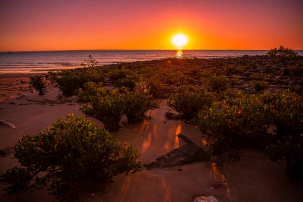 Sunset - Mindil Beach - Darwin stock photo