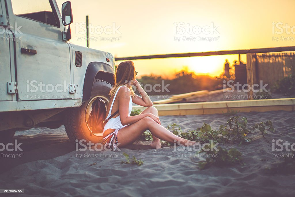 Sunset miracles stock photo