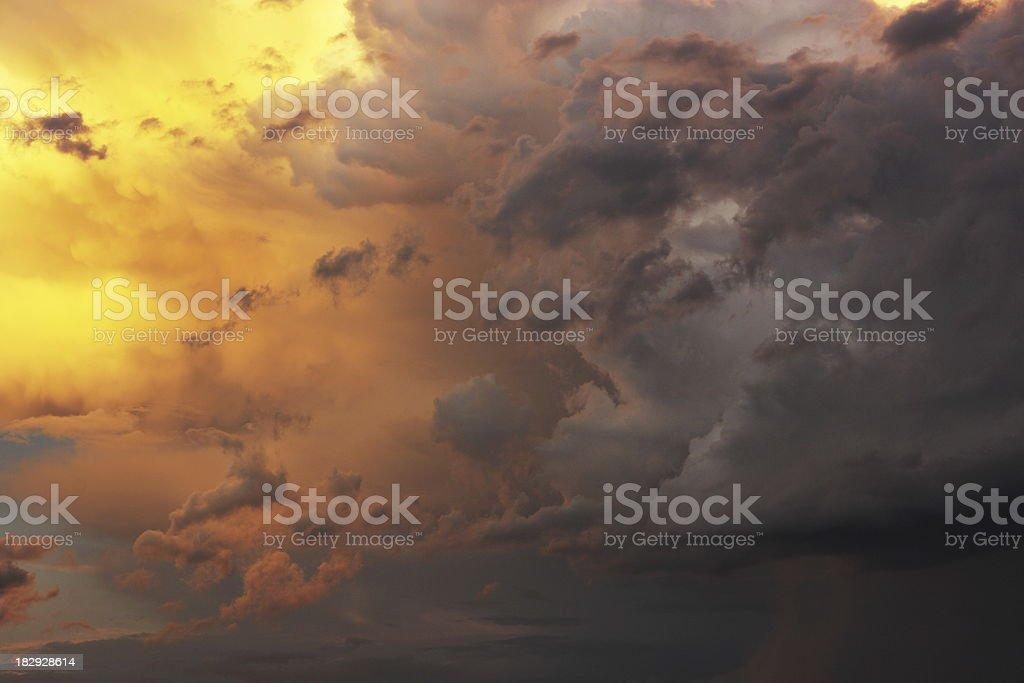 Sunset Monsoon Storm Cloud Sky royalty-free stock photo