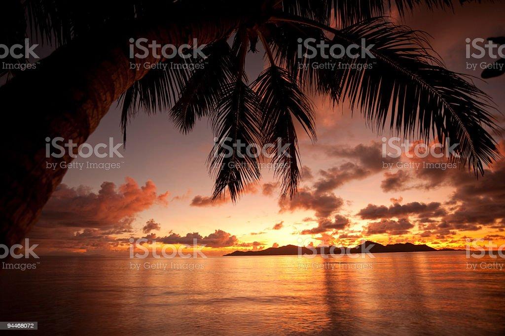 sunset mood royalty-free stock photo