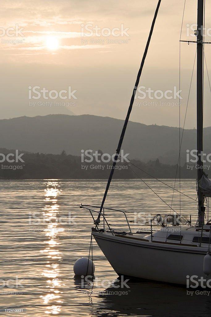 Sunset Mooring royalty-free stock photo