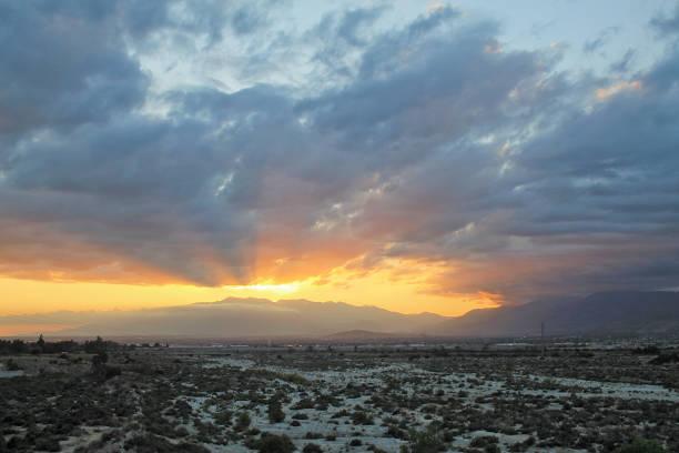 Sunset Mount Baldy May 2016 stock photo