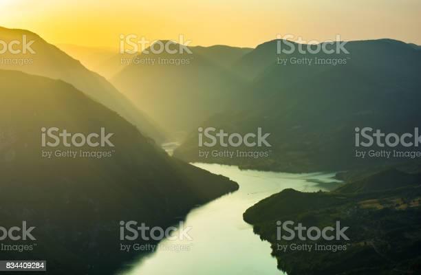 Photo of Sunset mountain landscape