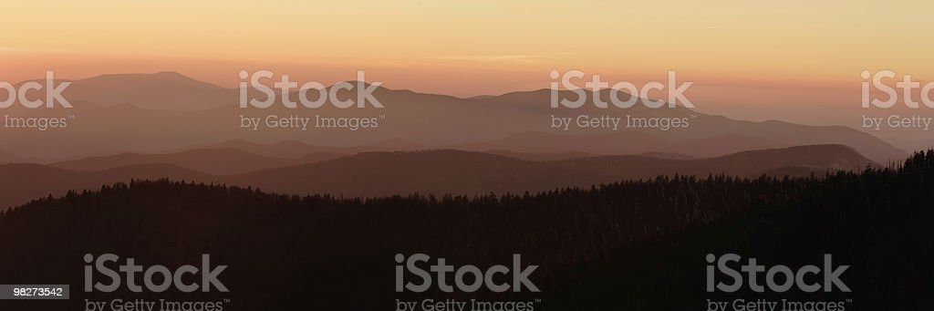 Sunset Mountain Layers royalty-free stock photo