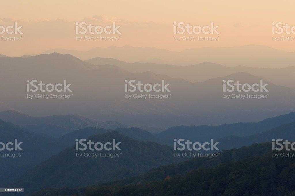 Sunset Mountain Peaks royalty-free stock photo
