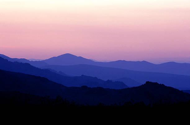 Sunset Mountain Ranges stock photo