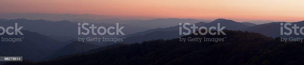 Sunset Mountains Panorama royalty-free stock photo