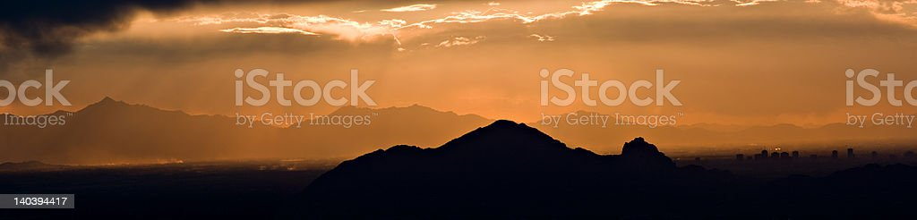sunset mountains royalty-free stock photo