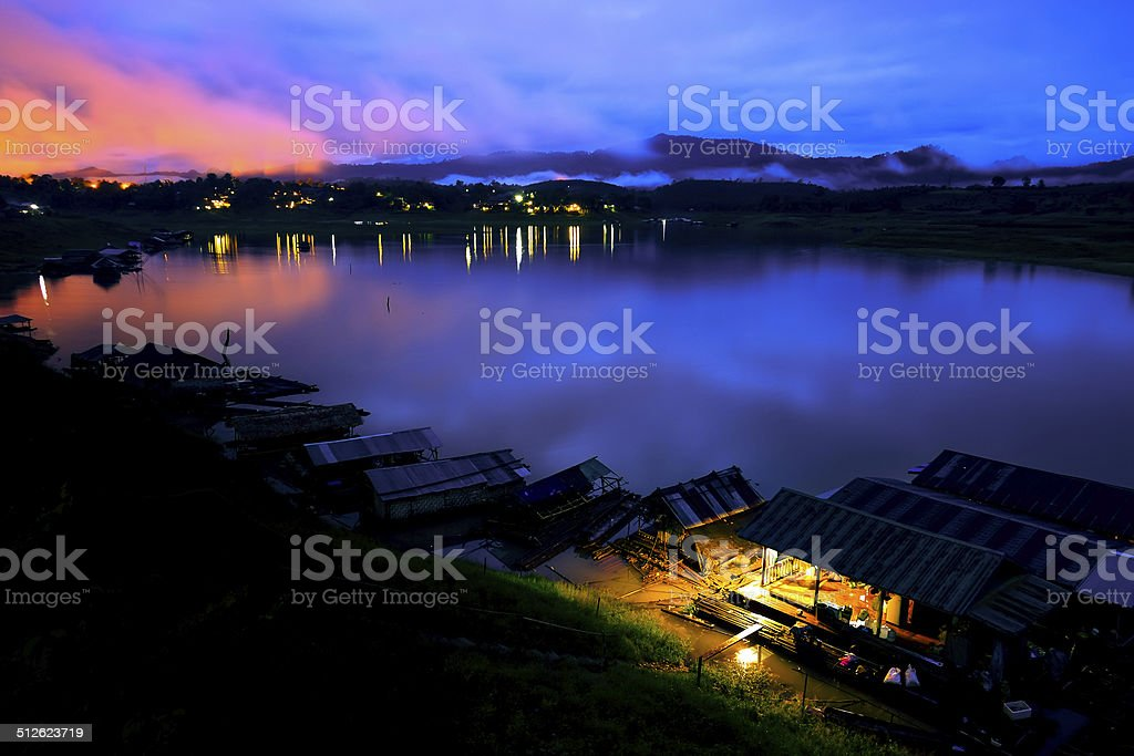 sunset night stock photo