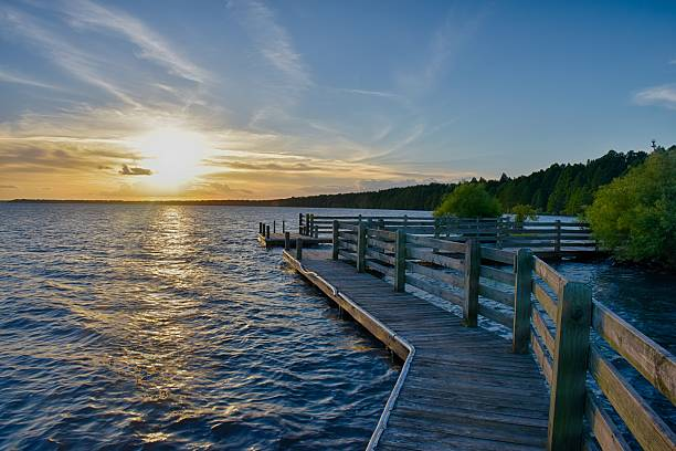 Sunset North Carolina stock photo