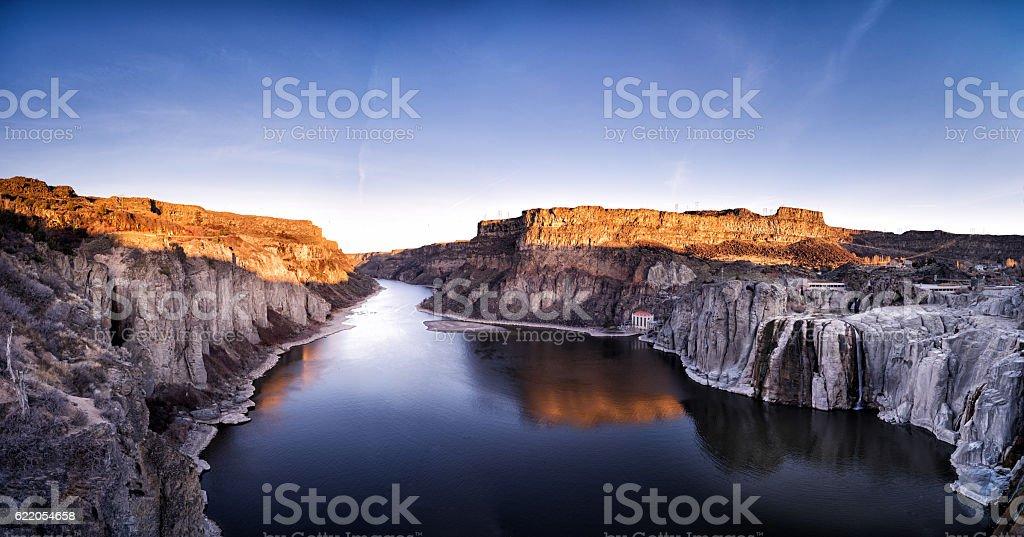 Sunset of Canyon stock photo