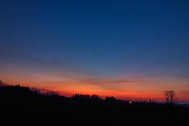 tramonto di fuoco - foto stock