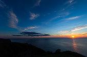 隠岐の島の夕日。美しい島。