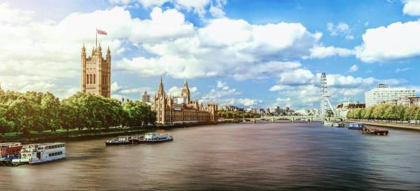 Sonnenuntergang von Westminster in London, Vereinigtes Königreich – Foto