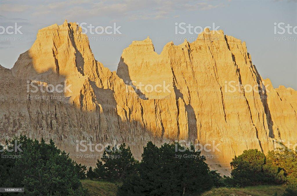 Sunset on a Badlands Ridge royalty-free stock photo