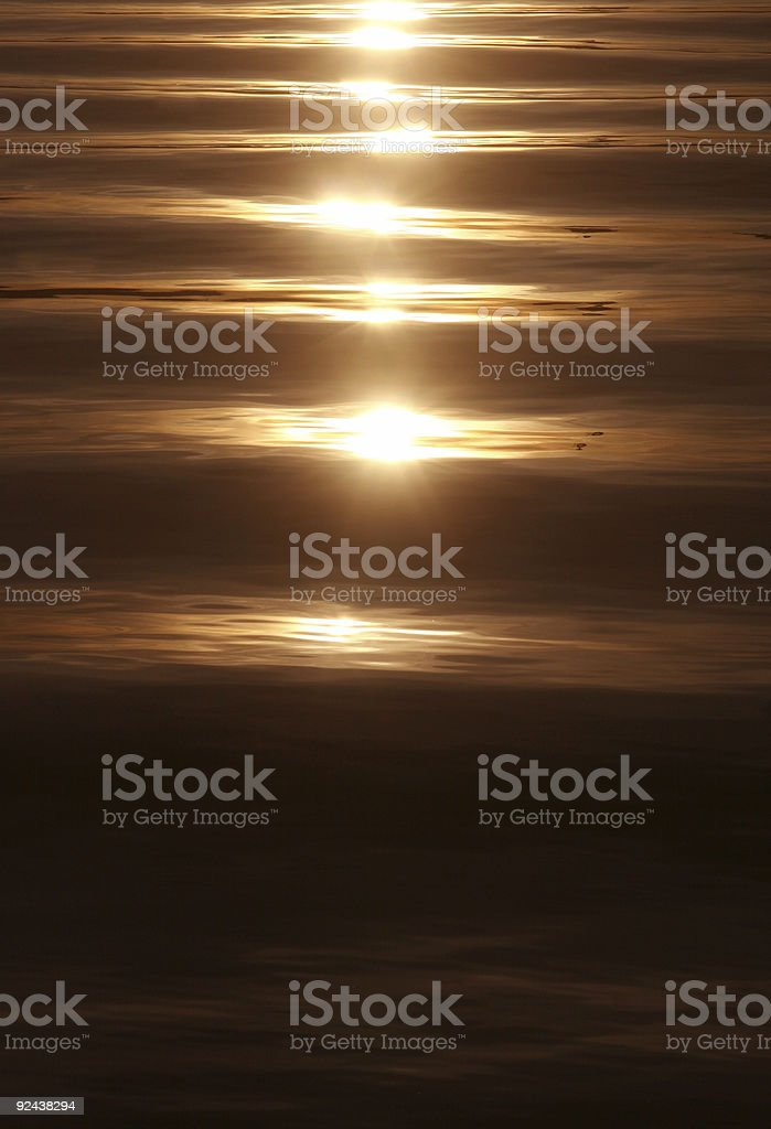 sunset on a calm sea royalty-free stock photo