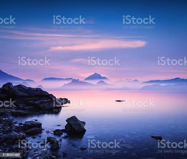 Photo of Sunset On a Rocky Beach