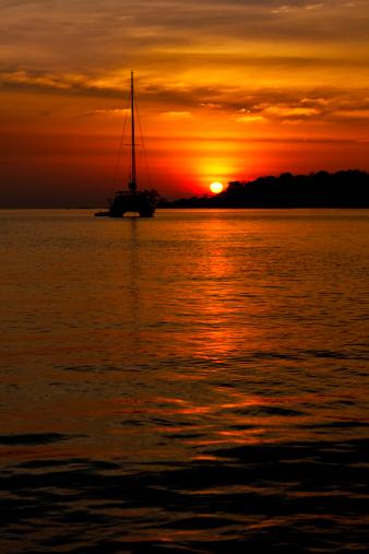 istock Sunset on a tropical island 165512225