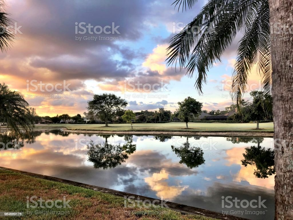 sunset on an island royalty-free stock photo