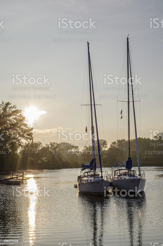 Sunset On Anchor royalty-free stock photo