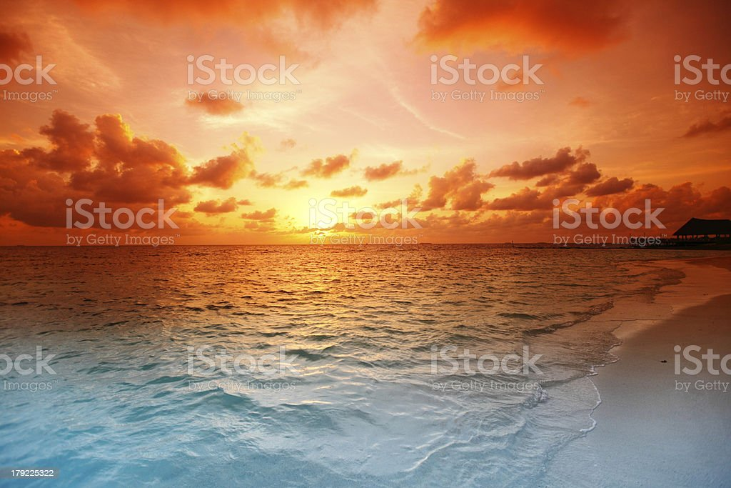Sunset on beach - Royalty-free Abstract Stock Photo