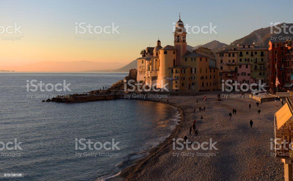 Sunset on Camogli 免版稅 stock photo