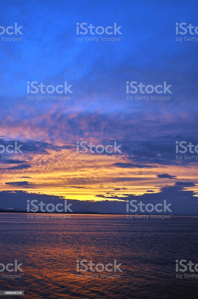Sunset on Canada's West Coast stock photo