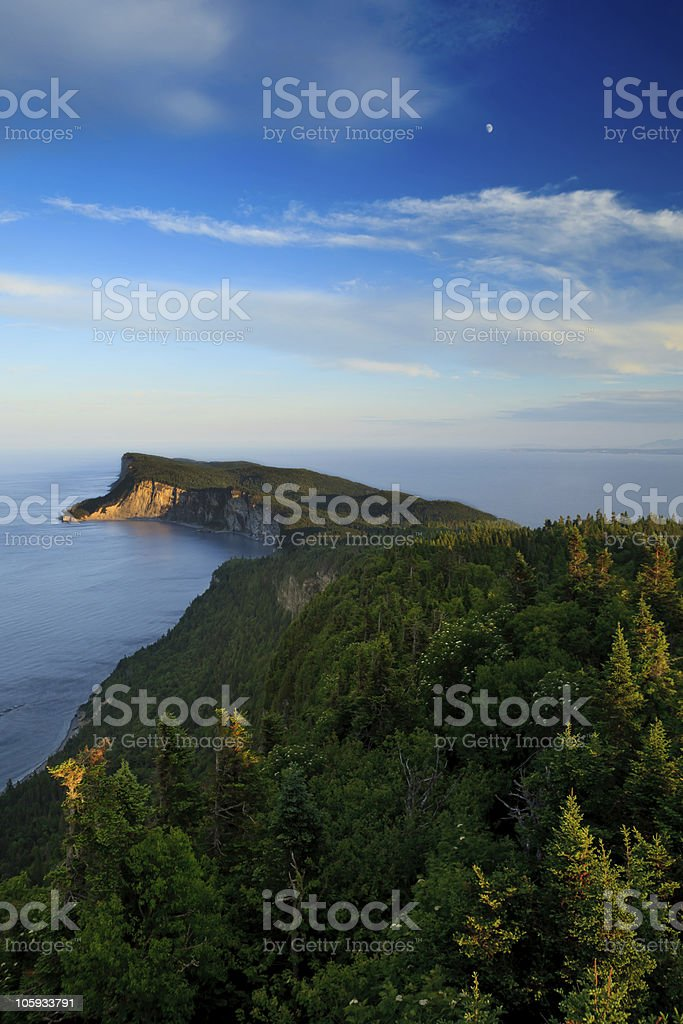 Sunset on Cap Bon Ami royalty-free stock photo