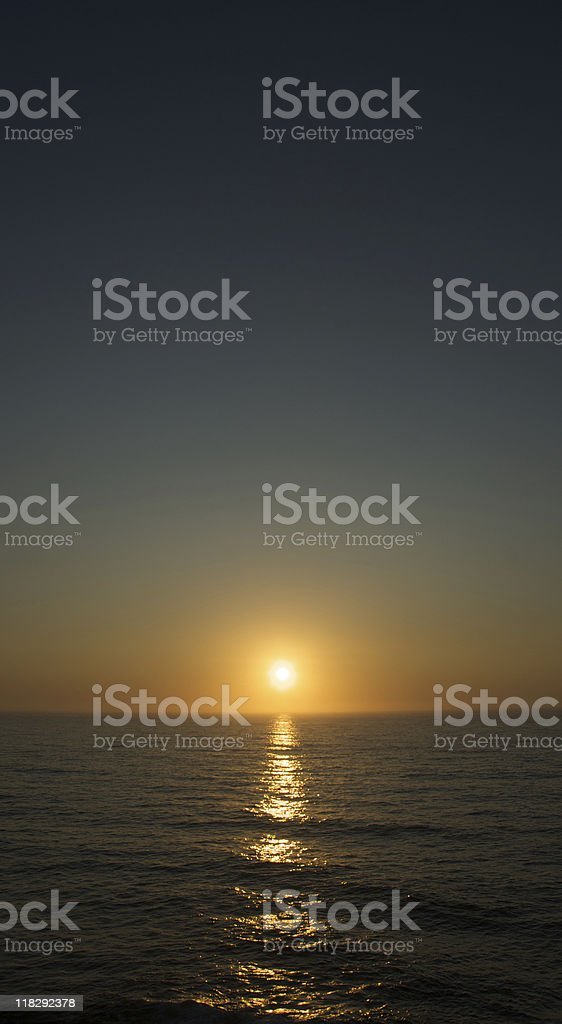sunset on clear sky stock photo