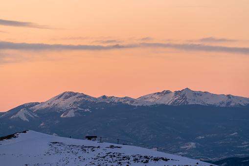 Sunset on Colorado Mines Peak