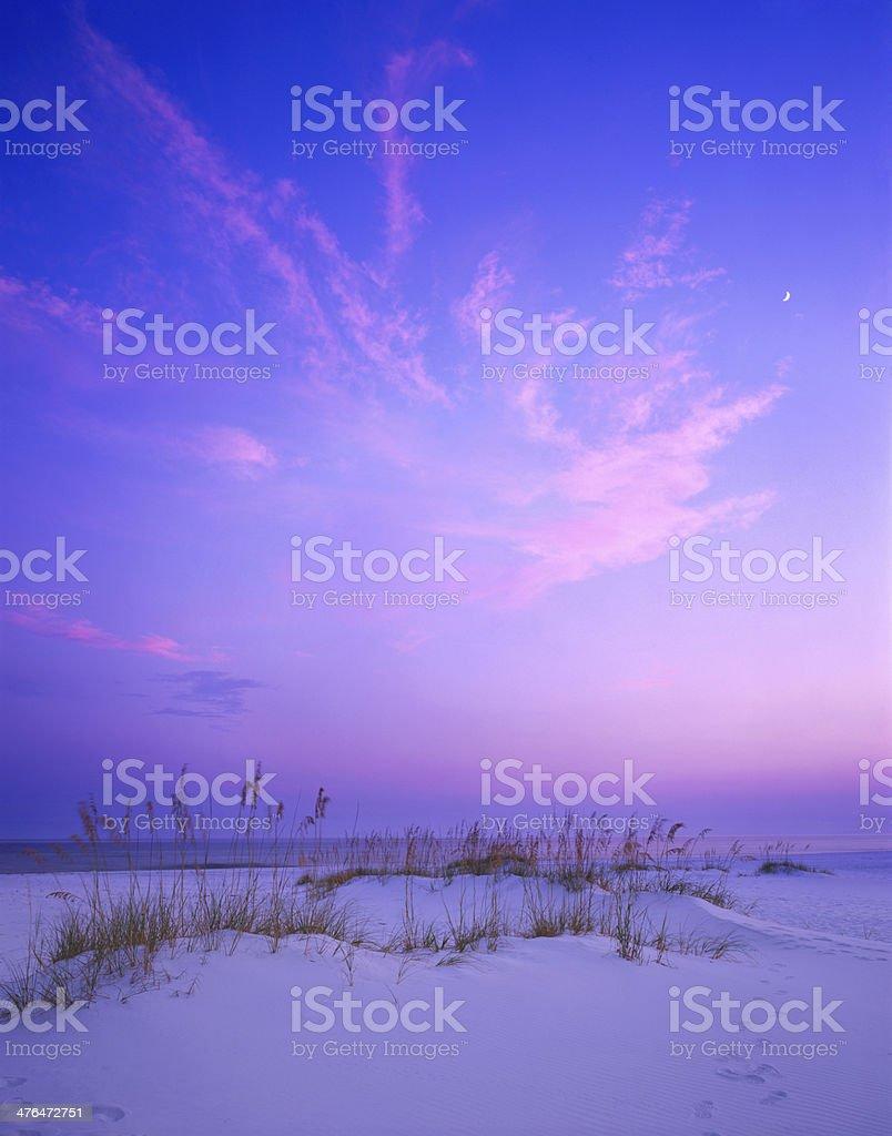 Sunset on Destin Beach, Florida stock photo