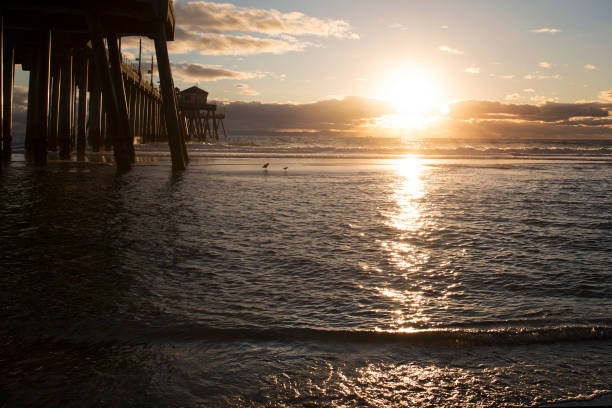 Sunset on Huntington Beach sunset on Huntington Beach California jude beck stock pictures, royalty-free photos & images