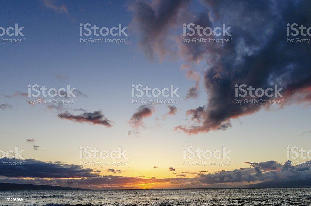 Sunset on Kaanapali, Maui, Hawaii, USA stock photo