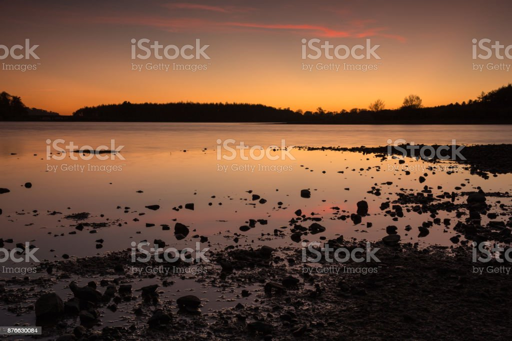 Sunset on Lake Blessington stock photo