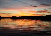 Vibrant sunset on the 69mm, Lake of the Ozarks, Missouri