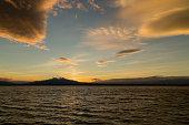 sunset on Mount Canigou