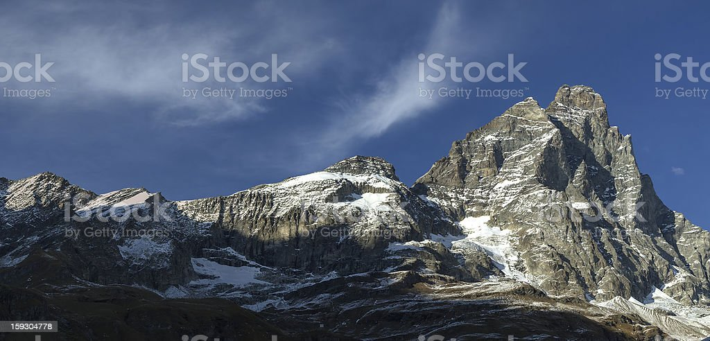 Sunset on Mount Cervino, Aosta Valley royalty-free stock photo