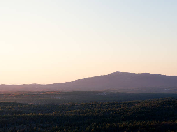 Sunset on Mount Monadnock, Jaffrey New Hampshire stock photo