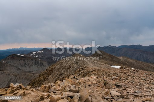 The view from the 14,000 ft summit in Colorado's Mosquito Range