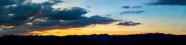 Sunset on mountain around Oaxaca, Mexico stock photo
