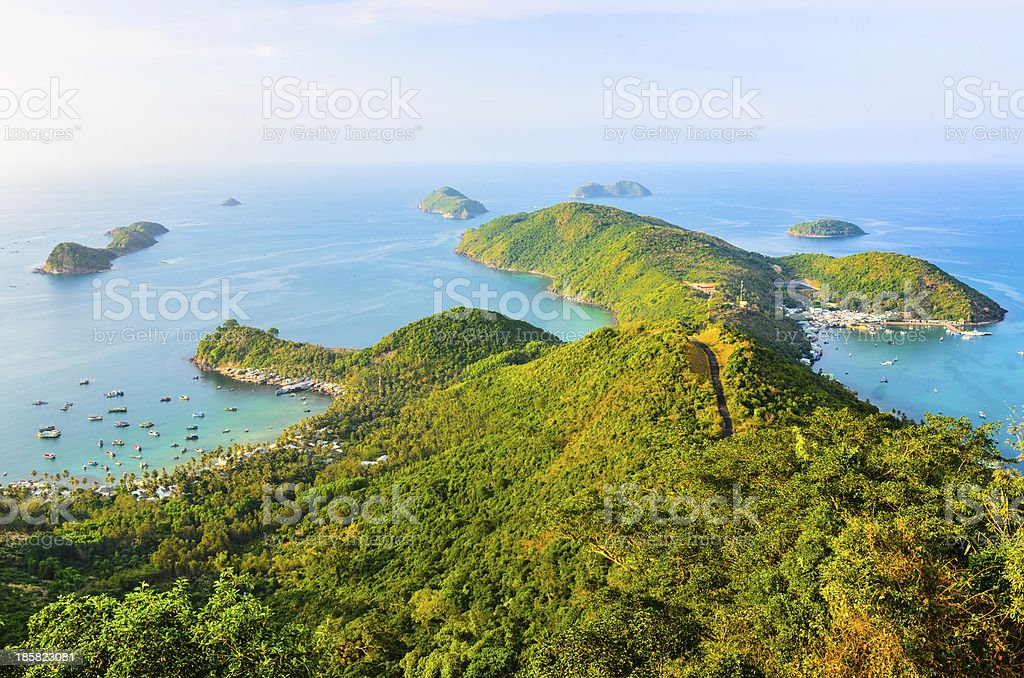 Sunset on Nam Du Island, Kien Giang Province, Vietnam royalty-free stock photo