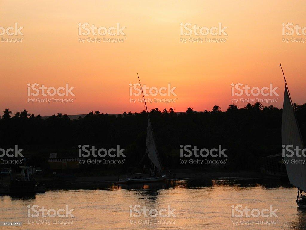 Sunset on Nile royalty-free stock photo