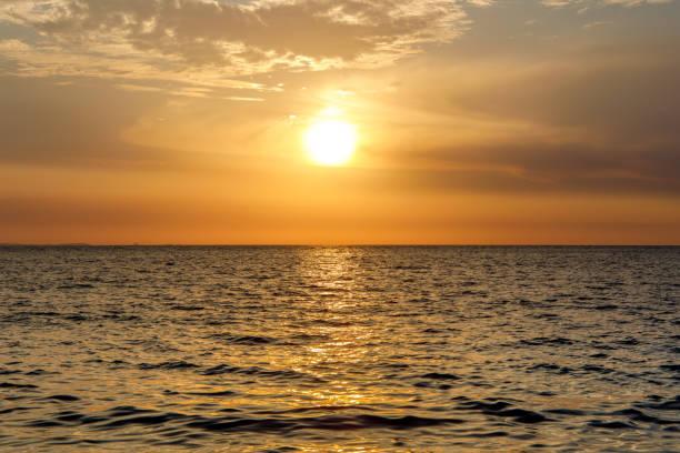 Sunset on Nosy Be island in Madagascar stock photo