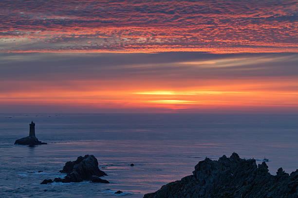 sunset on raz point stock photo