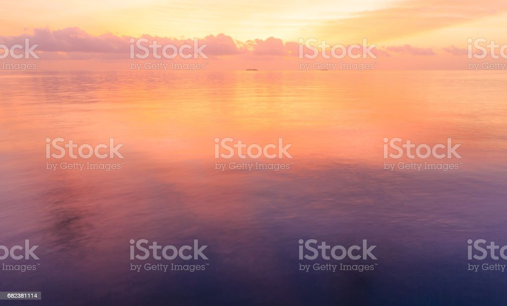 Sunset on sea in Maldives foto stock royalty-free