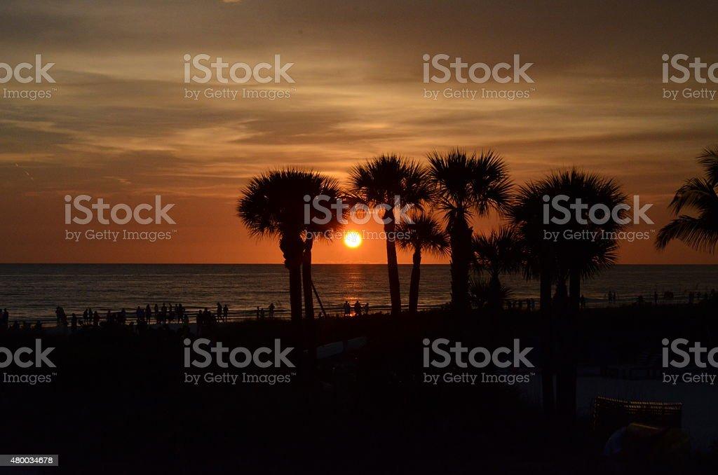 Pôr-do-sol em Siesta - foto de acervo