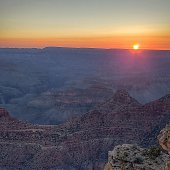 Grand Canyon National Park sunset on south rim.