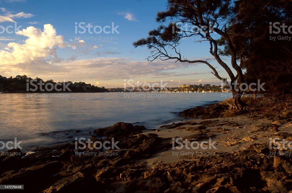 Sunset on Swan  River stock photo